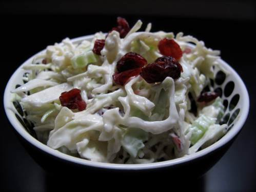 Coleslaw w/ dried cranberries